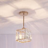 7W LED Pendant Crystal Light Hanging Lamp Ceiling Fixture E27 Bulb Living Room