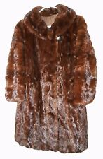 Vtg. Mink Fur Coat Long Super Nice Harold Size Medium