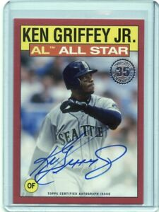 2021 Topps '86 Topps All Star Autographs Red #86ASKG Ken Griffey Jr.  05/10 - NM
