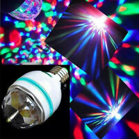3W E27 LED RGB Crystal Rotating Stage Bulb Party Disco DJ Bar XMAS Color Lamp3F8