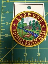 Redwoods National & State parks California embroidered patch New & Unused