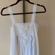 Women's White Night Gown Nightie Lingerie Interludes by Cira AS IS Size M?