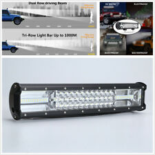 """16"""" LED Work Light 432W Tri-row 7D LED Light Bar For Off-Road Car Truck 4WD 4x4"""