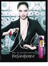 PUBLICITE ADVERTISING 094  2008   YVES SAINT LAURENT  parfum ELLE