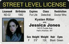 new THE DEFENDERS Jessica Jones KYSTEN RITTER Detective Dr Who Drivers License