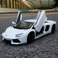NEW WHITE 1:18 LAMBORGHINI AVENTADOR LP700-4 DIECAST CAR MODEL KID TOYS BY WELLY