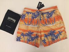 New w Tags & Bag Authentic Vilebrequin Moorea Swim Trunks Orange - Men LARGE - L