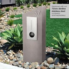 BARCELONA MOCCA Concrete LETTERBOX 304 Stainless FRONT Mailbox MILKCAN DESIGN