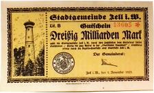 1923 Germany ZELL 30.000.000.000 / 30 Billion Mark Banknote
