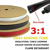 Wire Wrap Protect Adhesive Heat Shrink Tubing Insulate For Cable Electrical Work