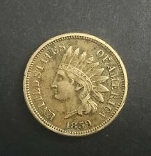 US Indian Head Cent  1859  Type  Coin