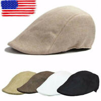Casual Men Women Duckbill Ivy Cap Golf Driving Flat Cabbie Newsboy Beret Hat BJ