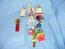Vintage Plastic Christmas Tree Decoration Ornament Baubles Old Glass Tree Topper