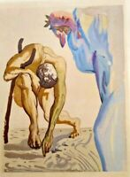 """Salvador Dali from the"""" Divine Comedy"""" framed and matted."""