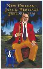 1996 Pete Fountain New Orleans Jazz Fest Poster ReMarque George Rodrigue