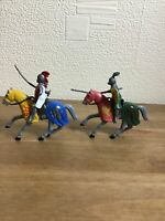 2 x Knights On Horses Great Fun Gift/Stocking Filler Free P&P