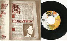 LILIANE SAINT PIERRE 45 TOURS BELGIQUE DIEU ETAIT MORT+