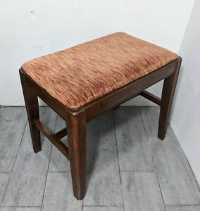 Vintage Mid Century Piano Vanity Sewing Stool/Bench Art Deco Style