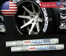 2 x Silver Waterproof Oil Based Pen Paint Marker For Dodge Tire Wheel Tread