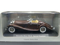 IXO Dealer Edition 1935 Mercedes Benz 500 K Spezial Roadster W29 Brown 1:43 NEW