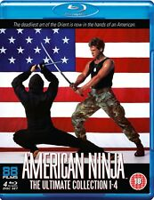 American Ninja 1 2 3 4 Ultimate Collection Blu-ray Reg (4 Discs)