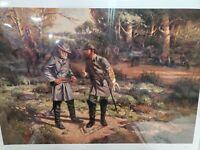 """Robert Summers Print """"We've Got Him"""" Robert E Lee/Stonewall Jackson -Civil War-"""