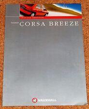 1998 VAUXHALL CORSA BREEZE 1.0i 1.4i 1.7D Sales Brochure - Special Edition Model