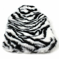 Hot Water Bottle with Cover Rubber Fleece Cosy Gift 2 Litre Faux Fur White Tiger