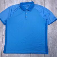 Adidas Climacool Golf Polo Shirt Mens XL Blue Performance Short Sleeve P117