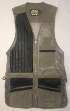 CABELA'S Shooting VEST BROWN LEATHER AND CLOTH with mesh Large New without Tags