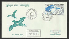 TAAF FRENCH ANTARCTIC 1989 BLUE PETREL BIRD 1v FDC