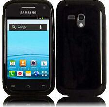 Samsung Galaxy Rush TPU CANDY Hard Gel Flexi Skin Case Phone Cover Glossy Black