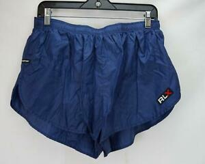 VTG Polo Sport Ralph Lauren RLX Nylon Running Shorts Navy Blue Men's XL