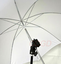 "33"" White Soft Umbrella + Flash Bracket Holder Swivel Mount + Screw Adapter"