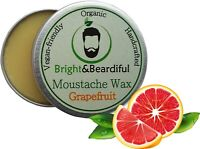 Grapefruit Moustache Wax Strong Hold for Styling, Handlebar, Twists & Curls 15ml