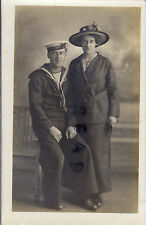 WW1 armourers Mate Royal Navy HMS Moon with wife or Sister