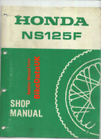 Honda NS125F TC01 (86-88) Genuine Factory Shop Manual Repair Book NS 125 F CA41