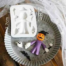 Halloween Skull Silicone Fondant Mold Baking Mould Topper Sugarcraft Decoration