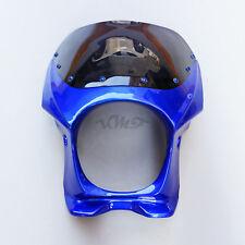 Blue Upper Fairing Cowl Windshield Kit Fit For Yamaha XJR400 XJR1300 ZRX400 New