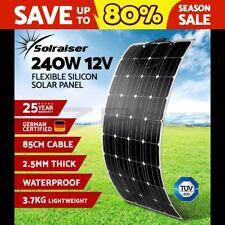 Flexible 240W Solar Panel Power Battery Mono Charging 12V