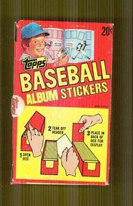 1982 Topps Baseball Unopened Sticker Box Right From Case Original Stock + Album