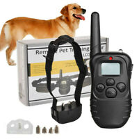 Training Dog Pet Electric Collar for Large 328 Yard Shock With Remote Waterproof