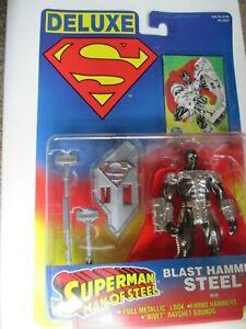 Superman Deluxe Blast Hammer Steel Kenner Action Figure 1996