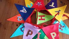 Happy Birthday Felt  Bunting / Banner -Fabric Letters 23 cm Flags -3 mt-Handmade