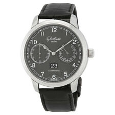 Glashutte Senator Observer Varnished Grey-Graine Dial Automatic Mens Watch