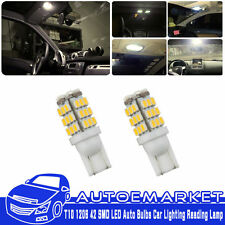 2x T10 194 168 1206 Warm White 42-SMD Trailer 12V LED Lights Bulbs Reading Lamps