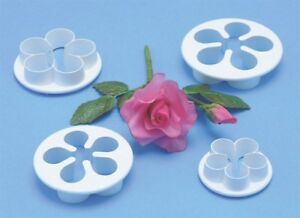 PME 5 Petal Flower Plastic Cutter for Sugarcraft Icing Cake Decorating 4 sizes