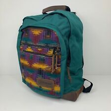 Eastpak Silverado Pak'r Antique Navajo Leather Wool Backpack 90s Made in USA VTG