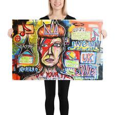 NEO David Bowie Street Art Graffiti Print Urban Abstract Modern Poster Wall