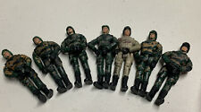 """Military Action Figures Wah Tung Toys  4"""" army soldier Lot of 7"""